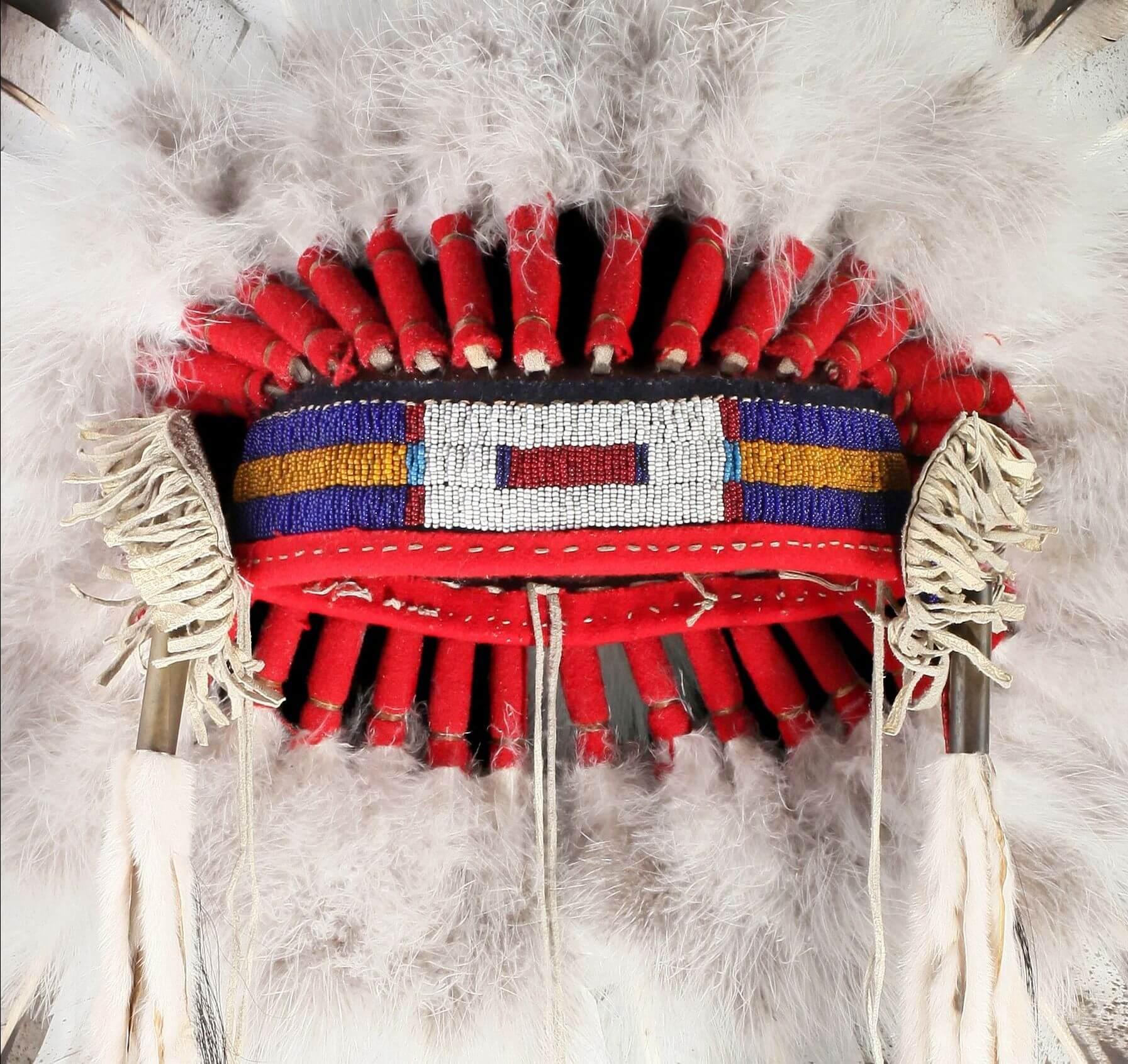 Индейский головной убор из перьев своими руками 80