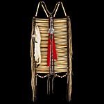 Индейские украшения из кости и бусин